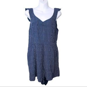 American Eagle Outfitters - Cap Sleeve Blue Romper